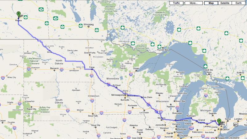 Pontiac to Regina